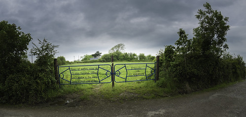 Poetry on a gate