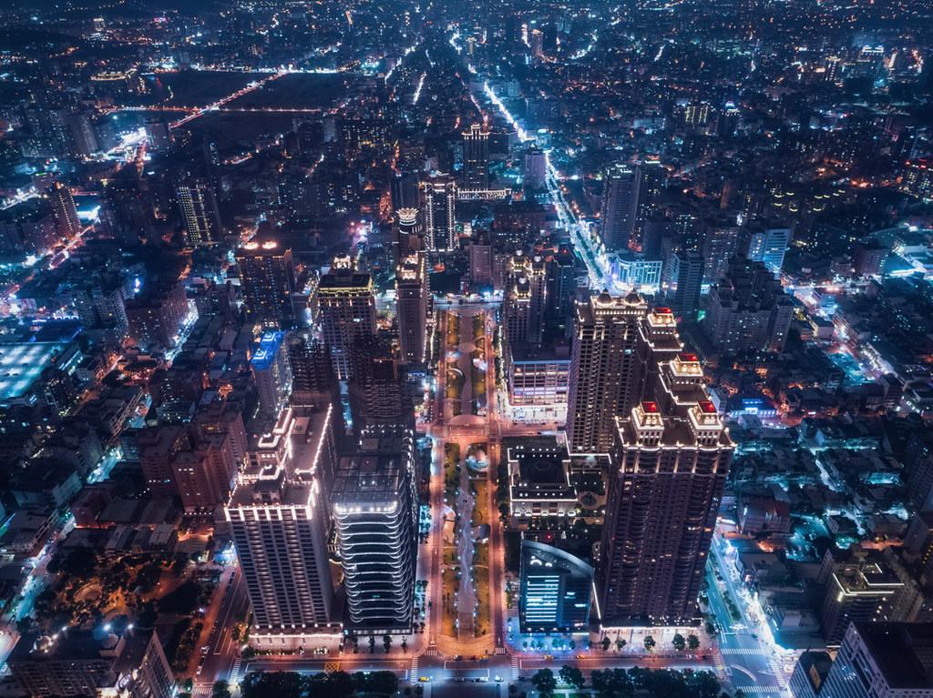 桃園市の夜景