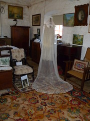 Jean Tucker wedding gown and veil 1928
