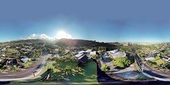Community Church of Honolulu in Nu'uanu -an aerial 360 Equirectangular VR from 148 feet