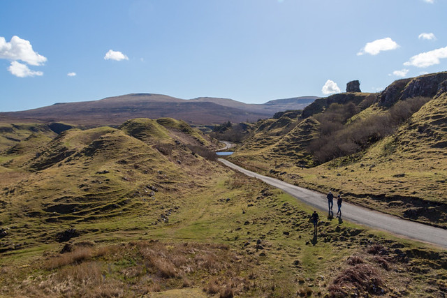 the road to Fairy Glen