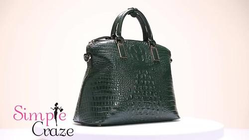 Green Crocodile 100% Genuine Leather Luxury Bag