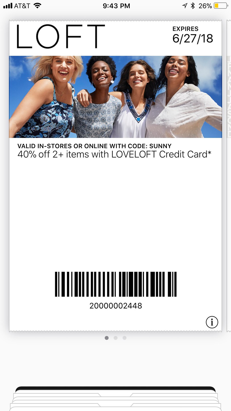 LOVELOFT Coupon Code (SUNNY) - Valid 6/7/18-6/27/18