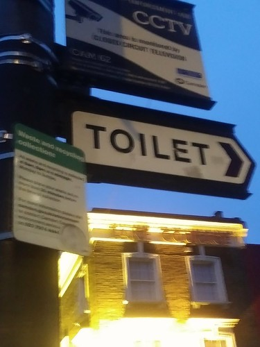 Toilet wayfinding sign, Camden Borough of London
