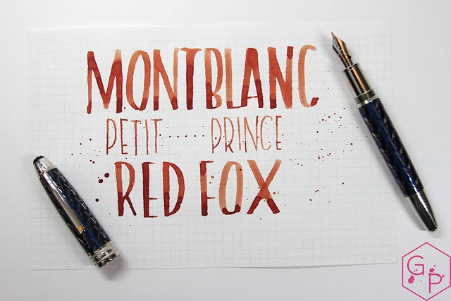 Montblanc Le Petit Prince Red Fox Ink Review @AppelboomLaren @Montblanc_World 16
