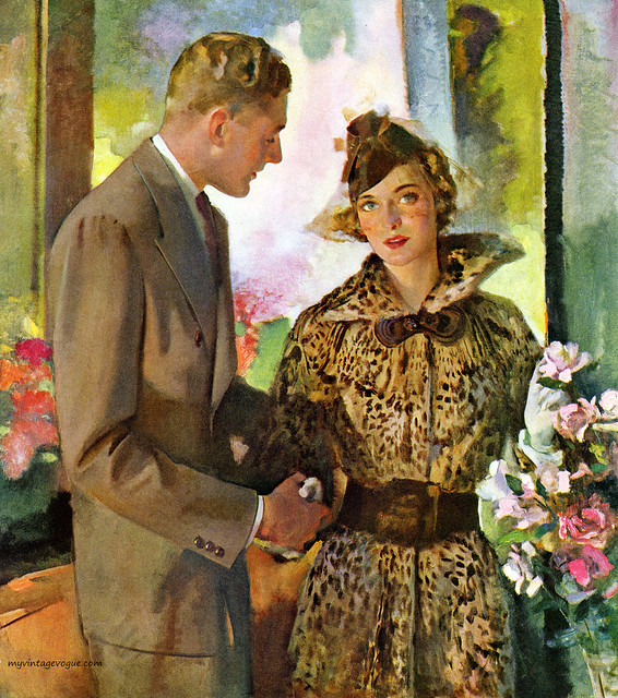 Ladies Home Journal May 1937, illustration by Roy Spreter