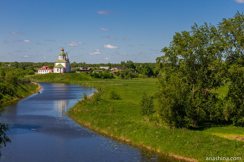 Река Каменка, Ильинская церковь и Ильинский луг, Суздаль