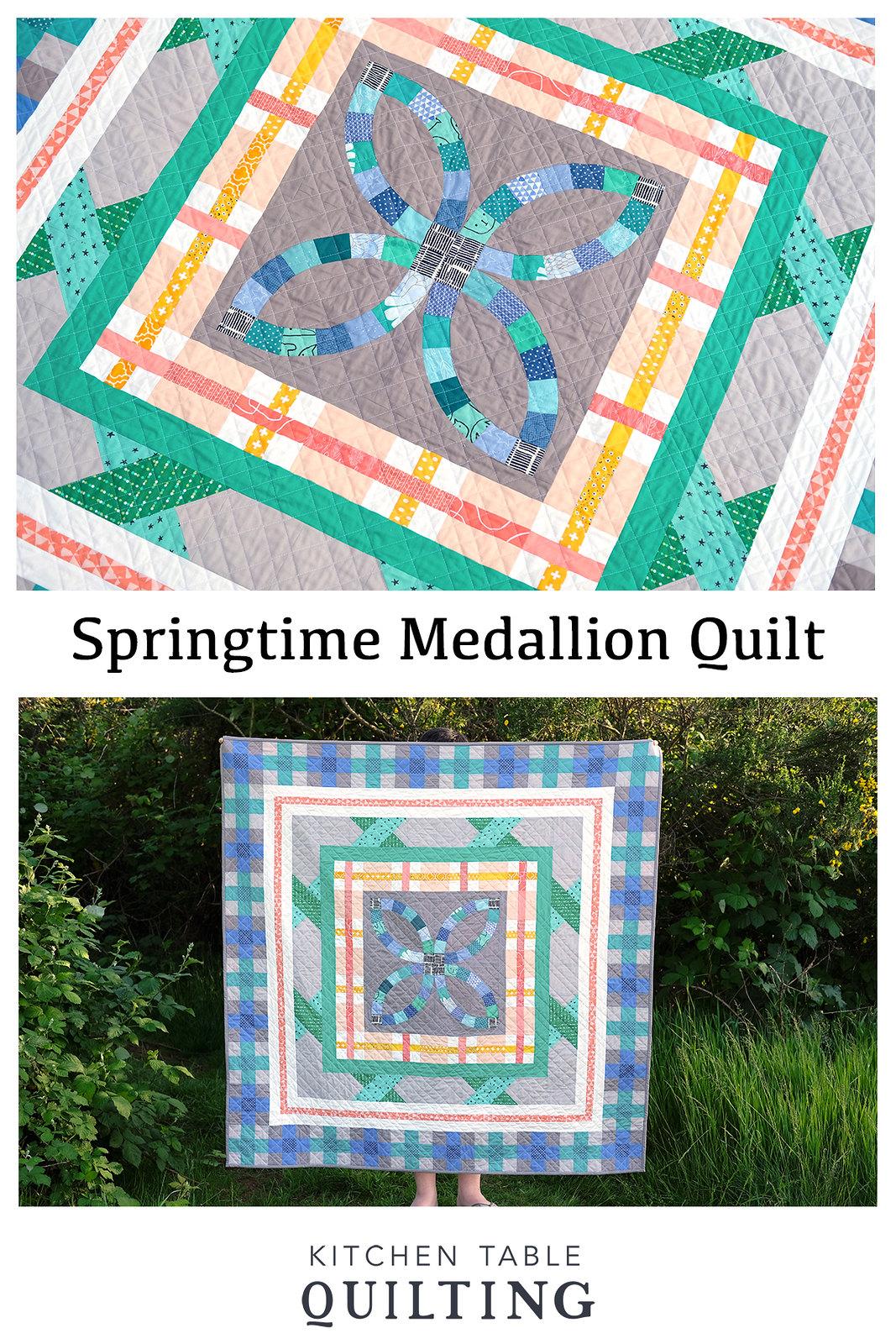 Springtime Medallion Quilt - Kitchen Table Quilting