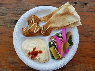 Falefel Plate from Yossi's Falafels at Mt Gravatt Marketta