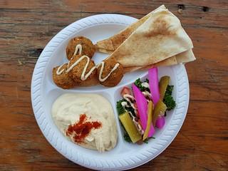 Falefel Plate from Yossi's Falafels at Mt Gravatt Marketta