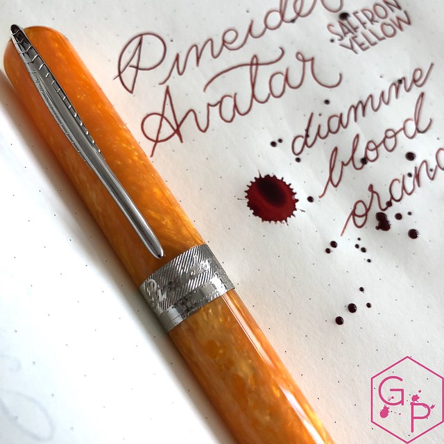 @Pineider Avatar Saffron Fountain Pen Review @GoldspotPens 33
