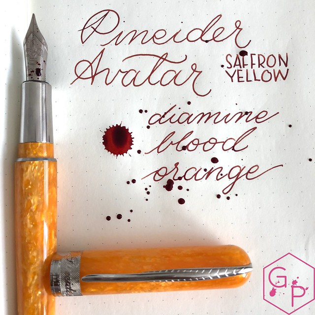 @Pineider Avatar Saffron Fountain Pen Review @GoldspotPens 32