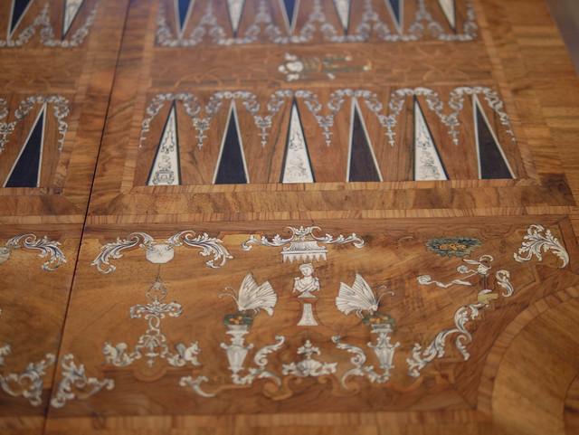 Backgammon Table, detail; MAKK Museum