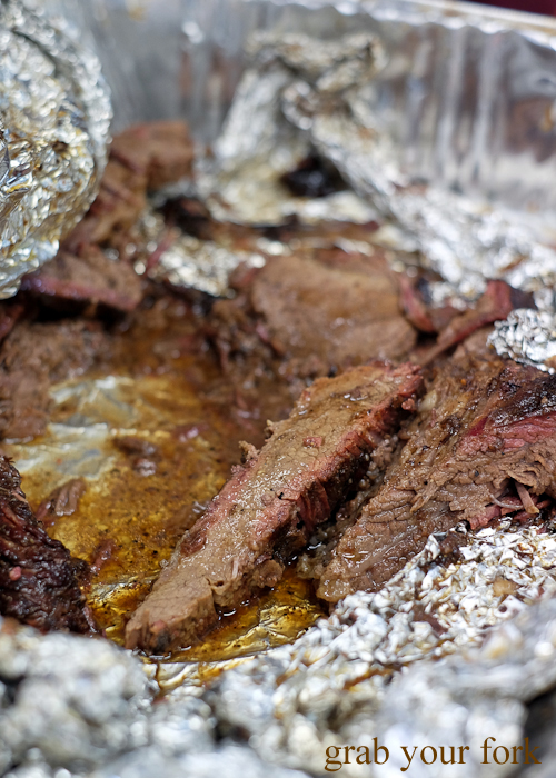 Carved brisket by 2 Smokin' Arabs at Lakemba Ramadan Food Festival 2018 on Haldon Street