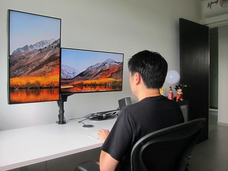 ErgoEdge AmpDesk Standing Desk - Back View