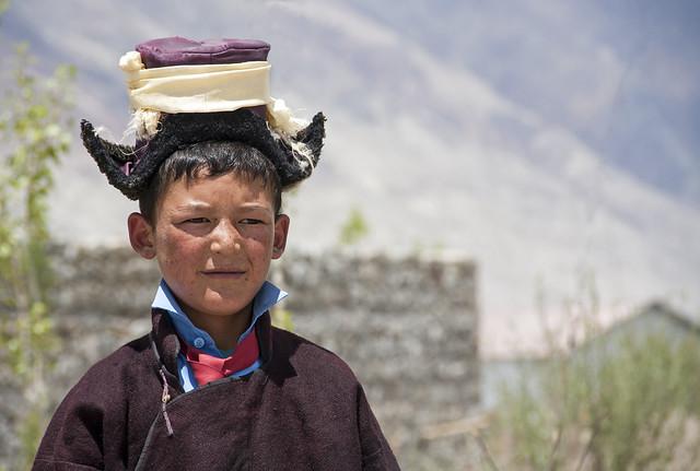 Ladakhi boy in traditional dress