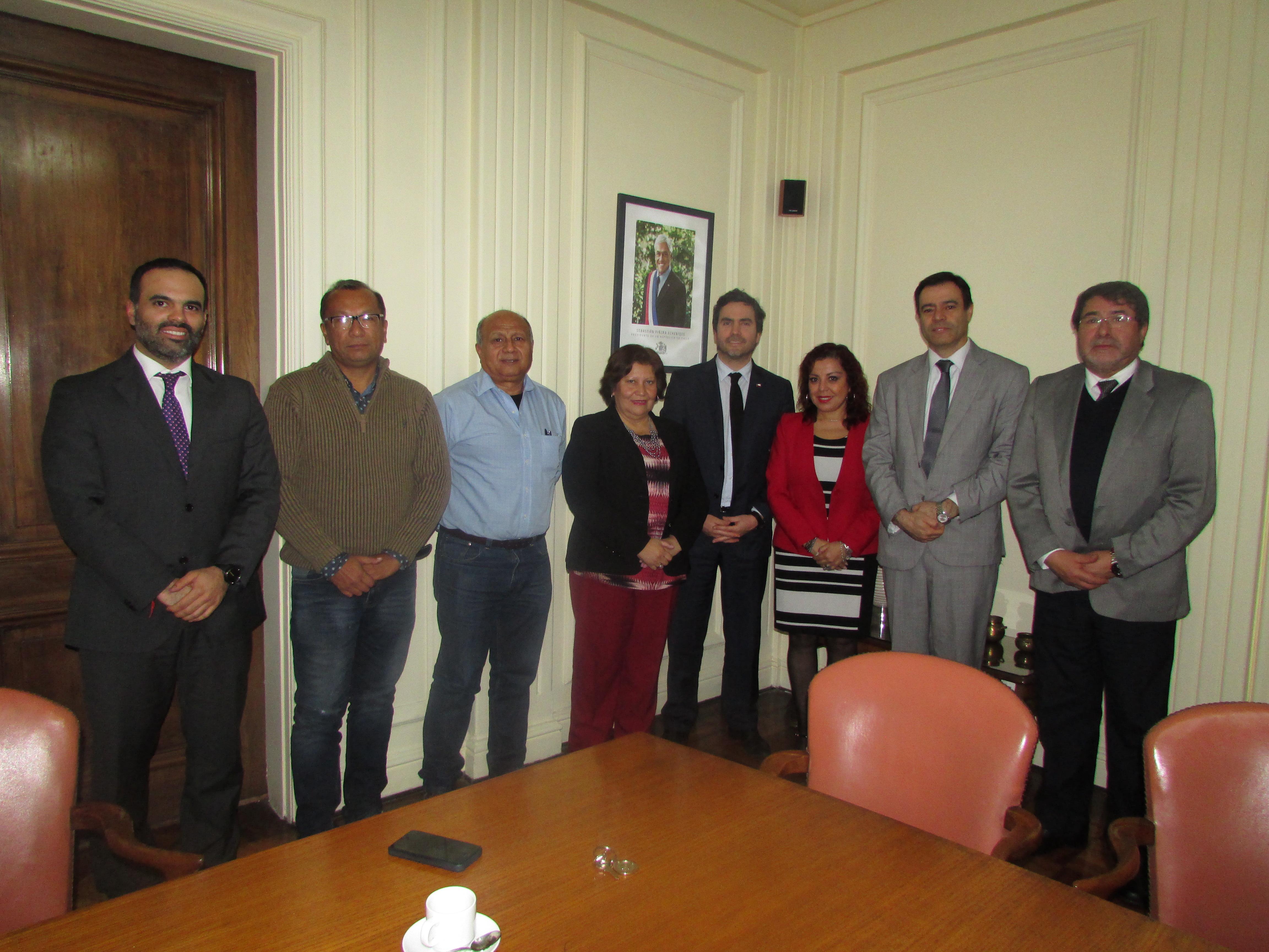 Dirigentes Nacionales y Provinciales de AET se reúnen con Subsecretario de Hacienda, Francisco Moreno - 29 Mayo 2018
