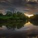 Aquitaine-Biganos-Last Light On the River by Michel2Montfort