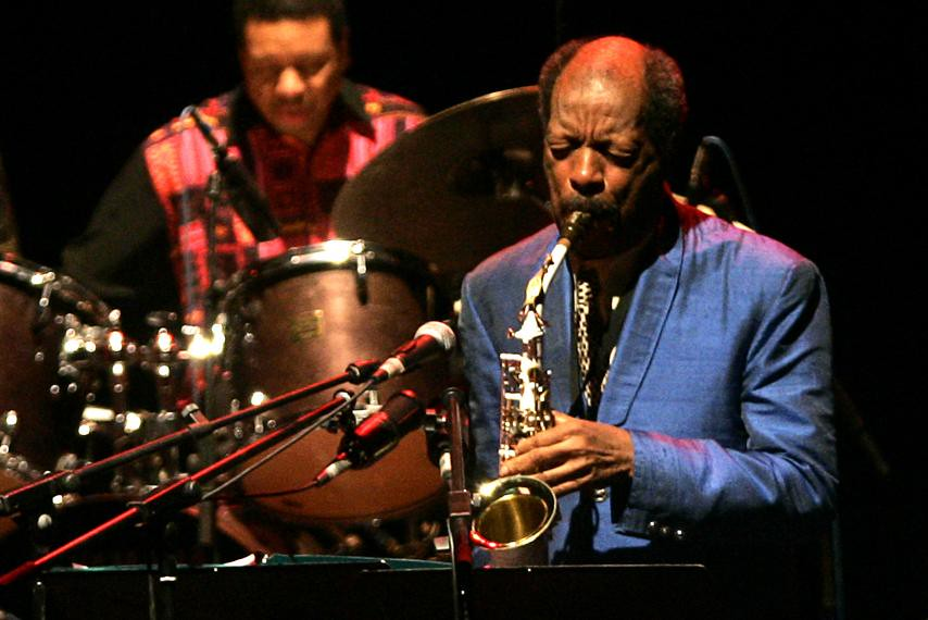 Photo of Ornette Coleman performing in 2007