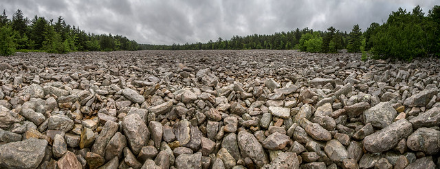Boulder Field at Hickory Run State Park in Pennsylvania.