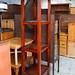Tall solid wood shelf unit E120