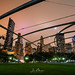 Skyline through Pritzker Pavilion