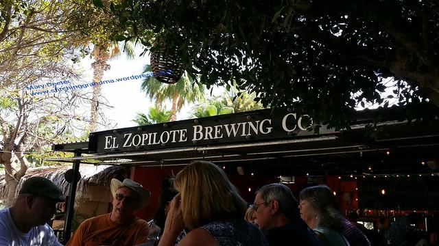 Outdoor seating at El Zopilote Brewing Co