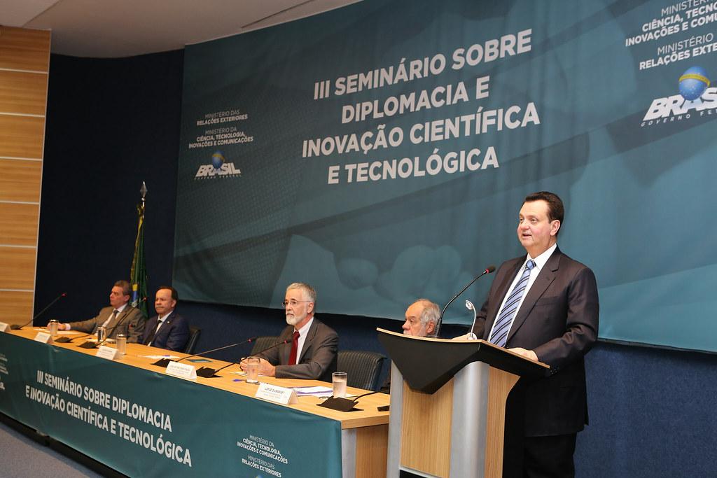Ministro Gilberto Kassab participa do 3º Seminário sobre Diplomacia e Inovação Científica e Tecnológica. Brasília (12/06/2018). Fotos: Ricardo Fonseca