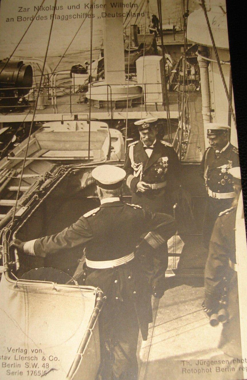 1907. Царь Николай II и Кайзер Вильгельм на флагмане `Германия`. (Визит и встреча)