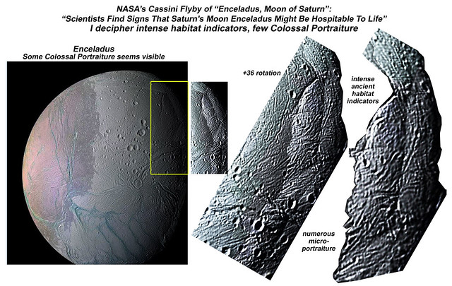 NASA's Cassini Final Flyby of Saturn, captures Enceladus Moon with Intense Ancient Habitat Indicators