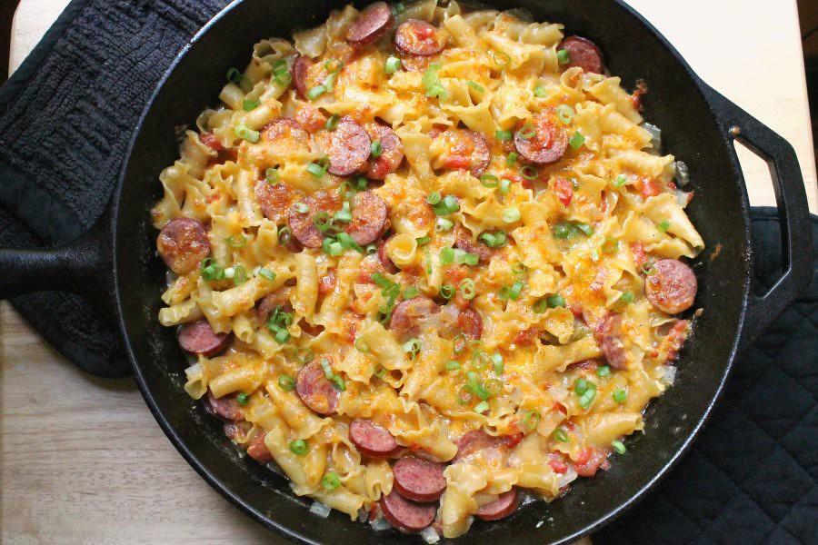 Spicy Sausage & Pasta Skillet, 2