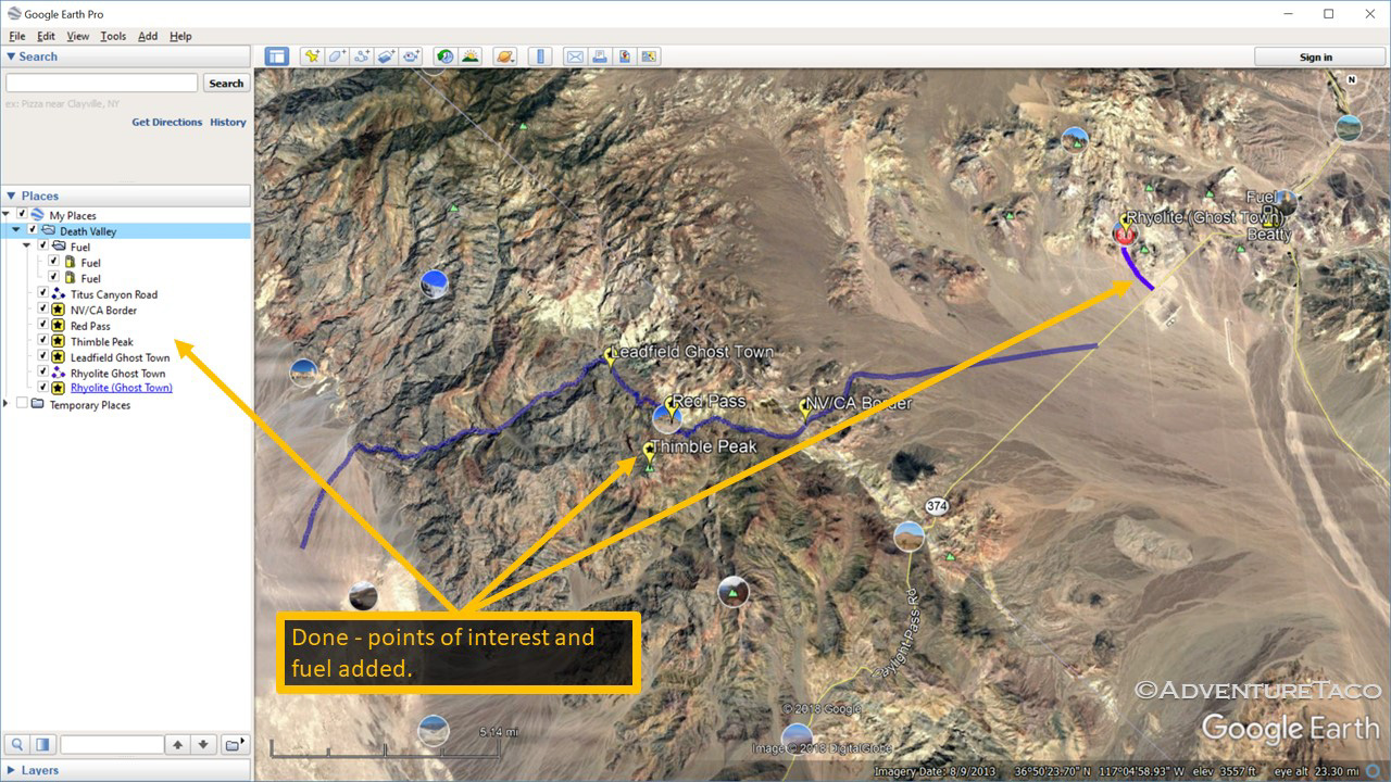 Planning a Trip/Route Part 1 (Google Earth, GPX, KML, and more)