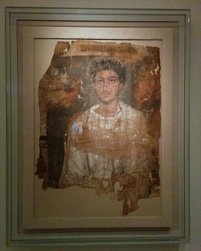 Fragmentary Shroud with a Bearded Young Man #newyork #newyorkcity #manhattan #metmuseum #egypt #fayumportraits #latergram