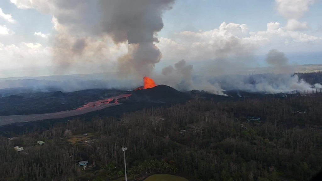 Kilauea, HI - East Rift Zone Eruption Event - 06/08/18 Photos and Video