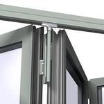 klizna harmonika vrata u aluminijumskom ramu - Copy