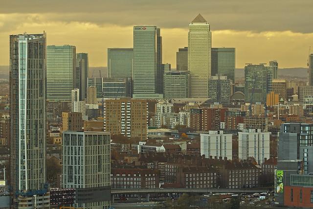 Civilization (Canary Wharf from ArcelorMittal Orbit, London, United Kingdom)