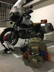 Transferring gear from pack to bike ORIGINAL