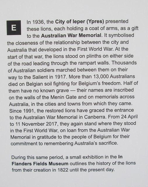 Menin Gate Lions Information