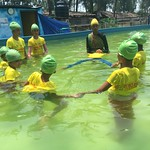 Bangladeshi girls learn swim safety - Cox