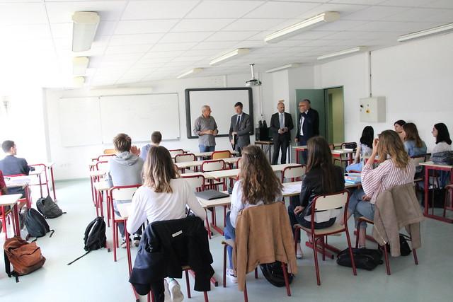 Echanges avec les lycéens du lycée des Graves de Gradignan sur le dispositif Parcoursup