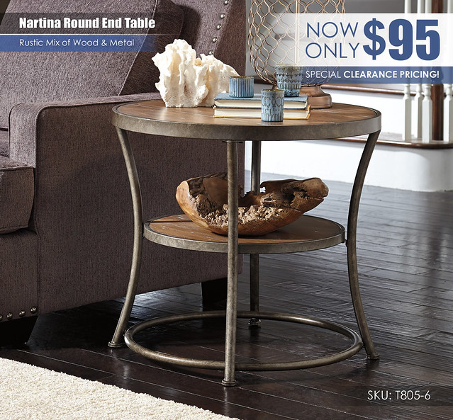 Nartina Rustic Round Table_CLEARANCE_T805-6
