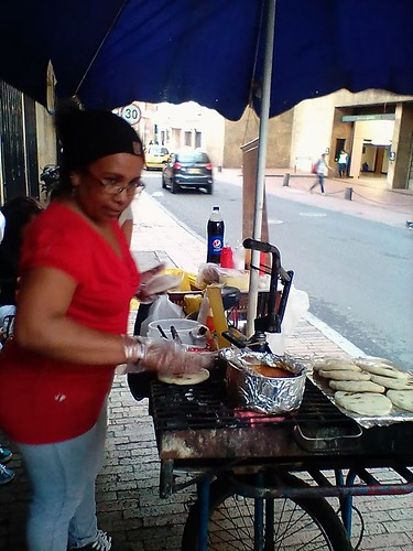 arepa maker (on bicycle)
