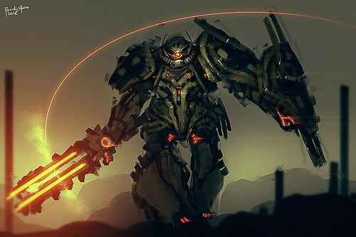 Gundam Art: Blaze Zaku Elite Commander