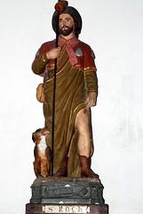Germagny (71) - église Notre-Dame-de-l'Assomption - statue de Saint Roch - Photo of Jully-lès-Buxy