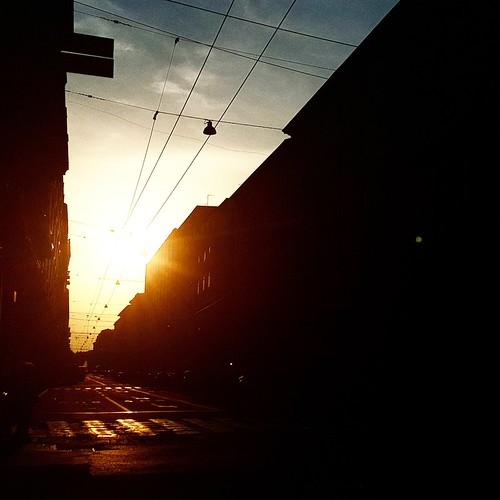 Tramonto a Bologna