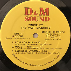 THE VAST MAJORITY:MOVE IT!(LABEL SIDE-A)