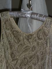 Jean Tucker wedding gown detail 1928