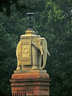 Delhi Rajpath 11 - elephant sculpture