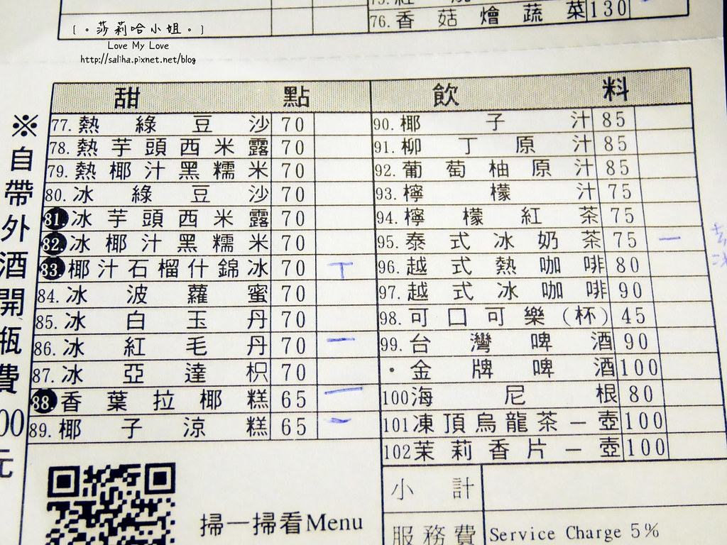 台北公館站美食推薦翠薪越南餐廳菜單menu價位訂位 (1)