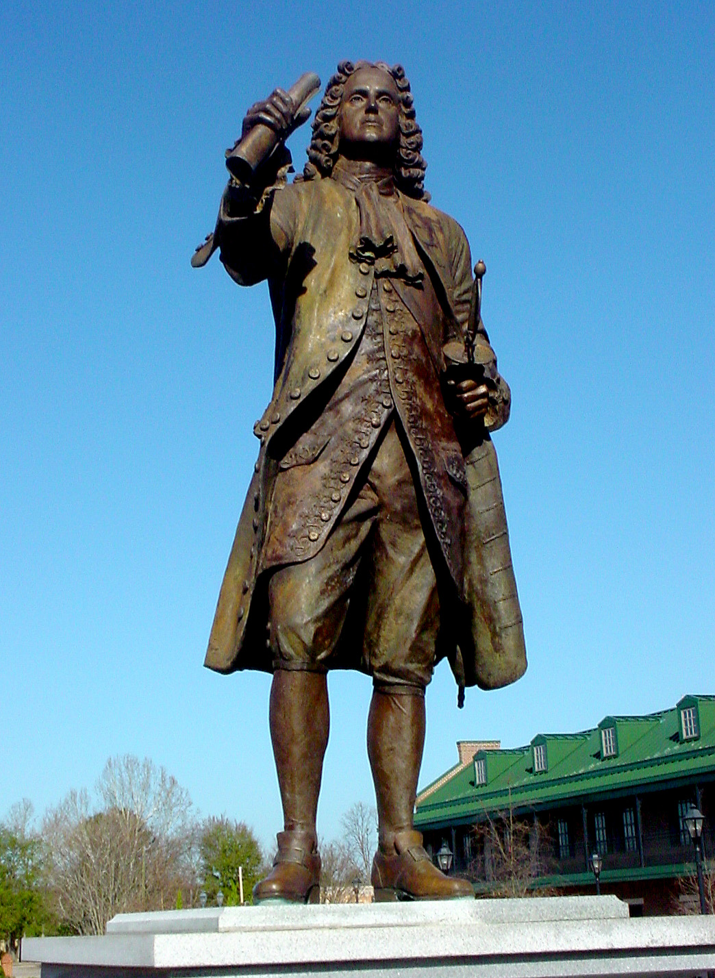 Statue of James Oglethorpe at the Augusta Common, an open space he personally designed when co-founding the city in 1735. Photo taken on February 3, 2006.